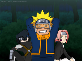 Team 7 as Kakashi Gaiden by Sheeva17