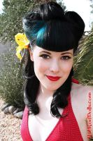 pin up close up at the pool by candeecampbell