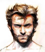 Hugh Jackman Wolverine colo by YannWeaponX