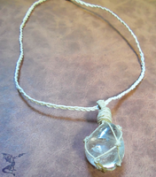 Netted Clear Quartz Necklace by SalamenceClaws