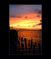 harbor sunset by rccollector13