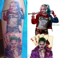 Joker and Harley Quinn -Tattoo pic by 4steex