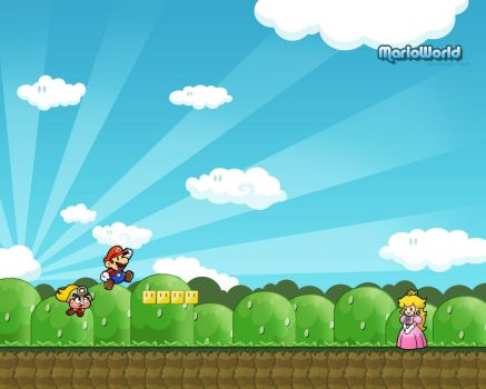 Mario World Wallpaper by Flame-X