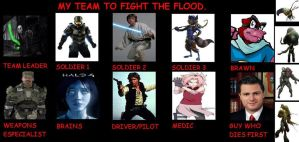 My team to fight the Flood. by THEEVILDOER