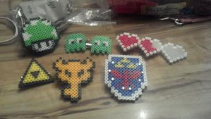 more perler barrettes by hyliacupcake