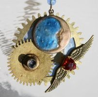 Love Flies OverTheMoonNecklace by mermaidencreations