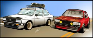 group toon VW Jetta by RibaDesign