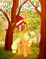 Sweet Apple Acres and AppleJack by ToffeC by ToffeC