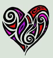 Abstract Tribal Heart with no sig by MelianOfMist