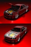 Nissan Skyline R34 GTR Final by Snipehunter4
