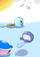 A Day in the Life of Water Pokemon. by gatomonlvr96