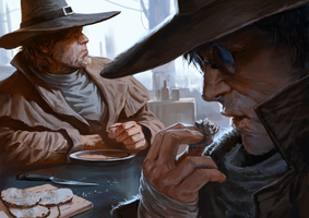 Judges-eating-soup by Marko-Djurdjevic