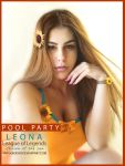Pool Party Leona Cosplay- League of Legends by yarahaddad