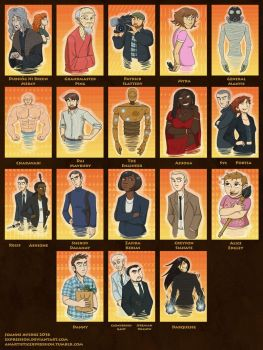 The Cast of Skulduggery Pleasant Part Six by Expression