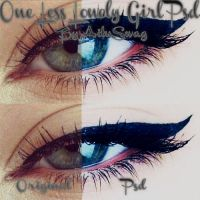 One Less Lonely Girl PSD by LightAddiction