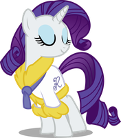 Rarity In spa robe by Vector-Brony