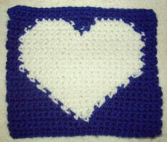 Tapestry Crochet Heart Square by audreydc1983