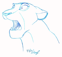 shocked Sarabi doodle by Stray-Sketches