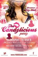 The Candylicious Party flyer template PSD by naranch