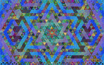 Magic Triangles Mosaic Blue by 8DFineArt