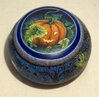 Halloween Trinket Pot by CelynsCorner