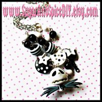 Jack Skellington Bead Necklace by SugarAndSpiceDIY