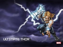 ultimate thor wallpaper by LOLONGX