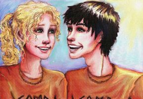 14. Smile- Percy and Annabeth by commoner-pocky