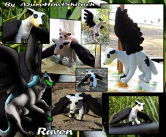 CM Raven finished plush by AzureHowlShilach