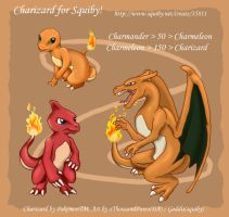 Charziard Spoiler for Squiby by creanima