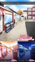 FY Background: Town Street by MagicalSakura