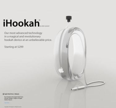 Apple iHookah , a concept art by syarawi