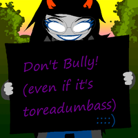 Even Vriska supports Spirit Day by KumaTheAwesome