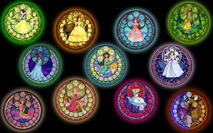Stained Glass Princesses from Akili-Amethyst by Neferubty