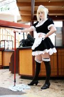 Saber Maid V by EnchantedCupcake