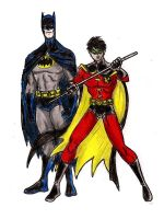Batman and Robin by Mbecks14
