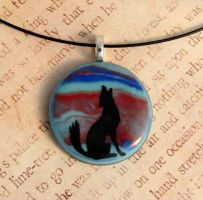 Southwestern Howl Fused Glass by FusedElegance