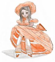 Orange / Peach Azalea Trail Maid by Aquateen510