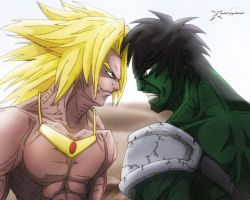 Face Off Broly VS Hulk by xericho