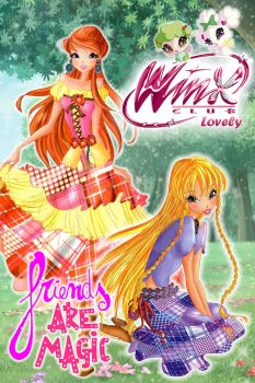 Winx Club poster: Bloom and Stella Linphea style by WinxLovely