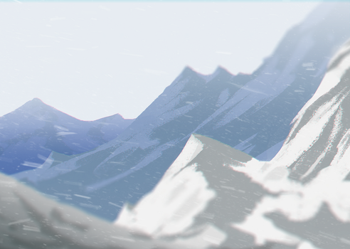 Mountain Sketch by DamisDesigns