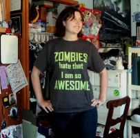 ZOMBIES HATE AWESOME by Fallingfreely
