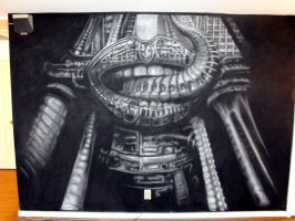 HR Giger- ELP XII -Wall Mural by jeremythatisme