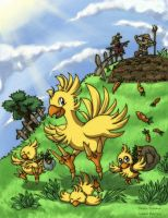 Chocobos by Evolvana