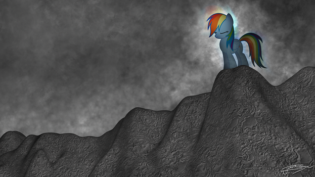 Rainbow Dash - The Calm Before The Storm by Jamey4