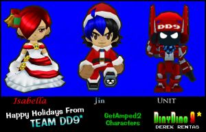 GA2 Team DD9 Holiday Outfits by DinyDino9