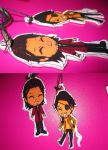 ryu ga gotoku chibi charms - key rings by Cinnamon-Zimt