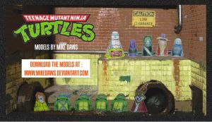 TMNT Models by mikedaws
