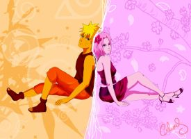 Narusaku week: Colors by Celious