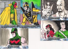 Avengers sketch cards by MarkMorales